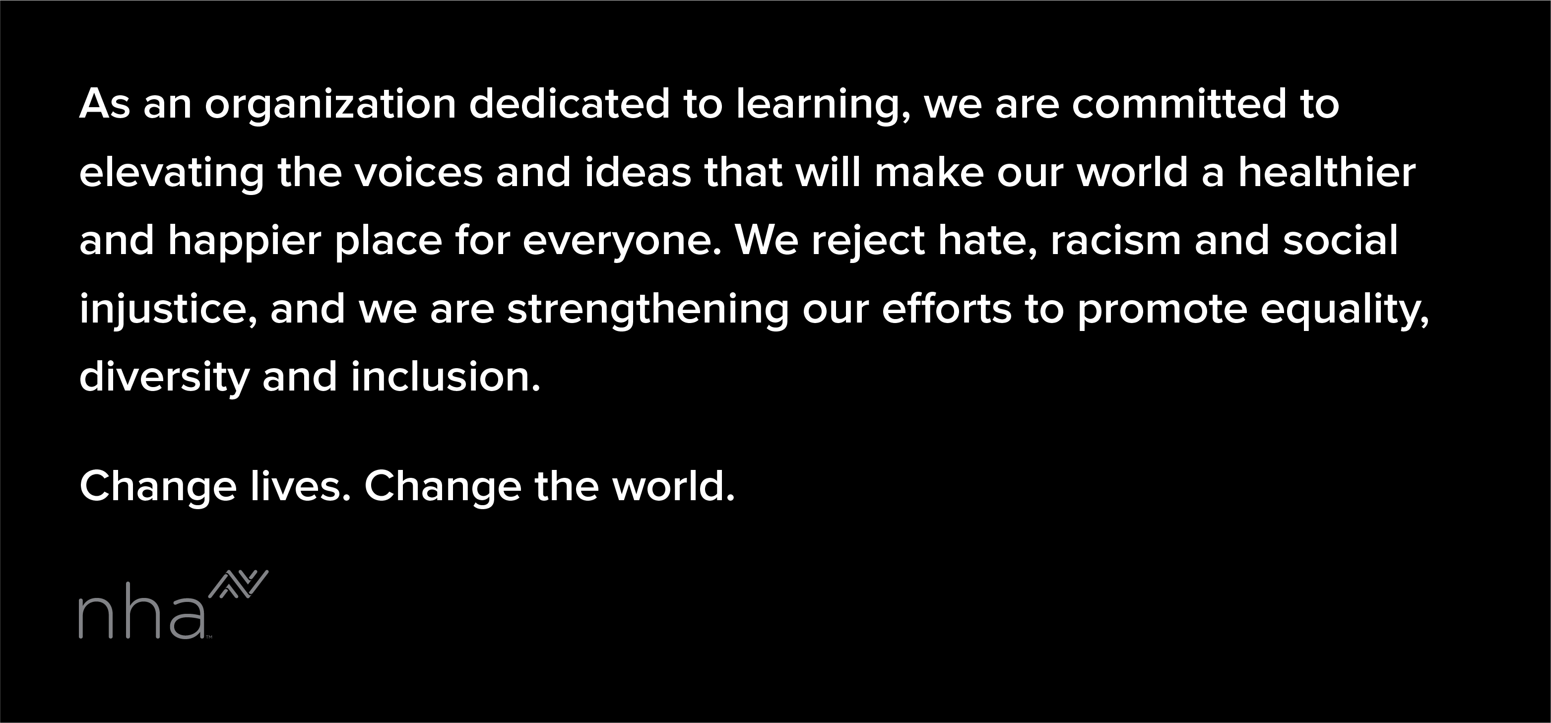 We reject hate recism and social injustice