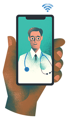 hand-holding-cellphone-with-dr-on-the-call